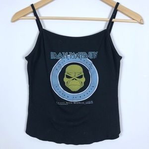 Iron Maiden Crop Tank Top